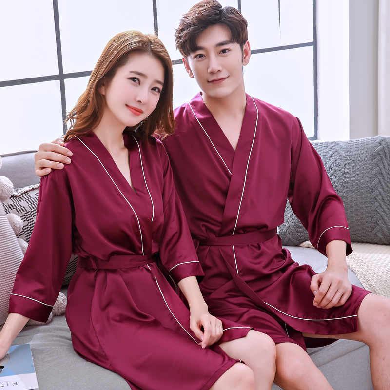 D nightgown - couple (red wine)