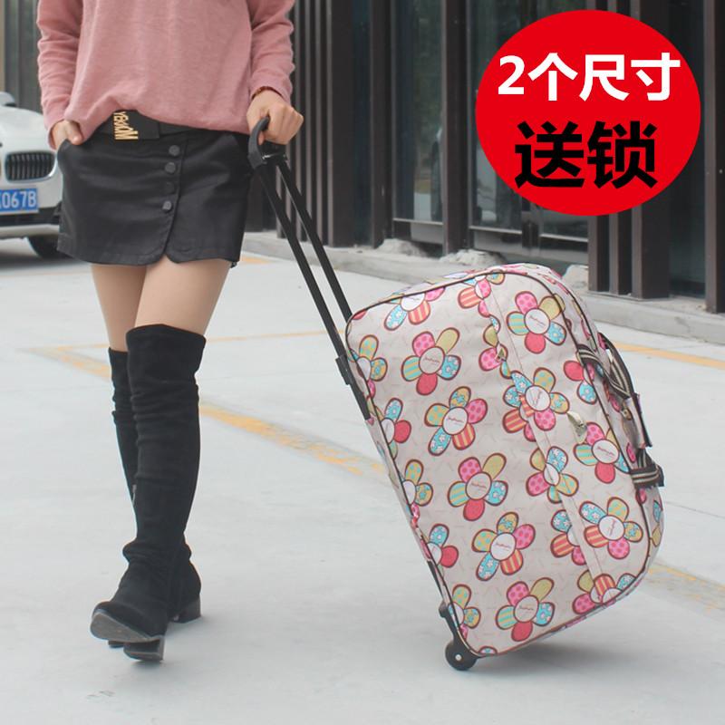 Xe đẩy túi túi du lịch túi xách nữ không thấm nước túi hành lý nam túi du lịch nội trú công suất lớn nạp quần áo triều