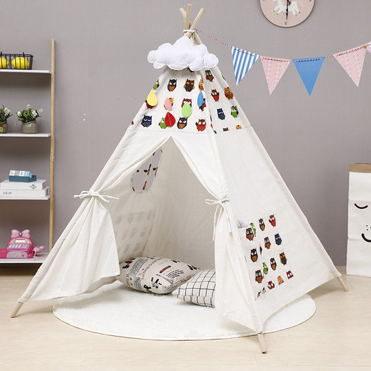Children's tent play house small house boys and girls indoor toys princess castle photography props Indian tent