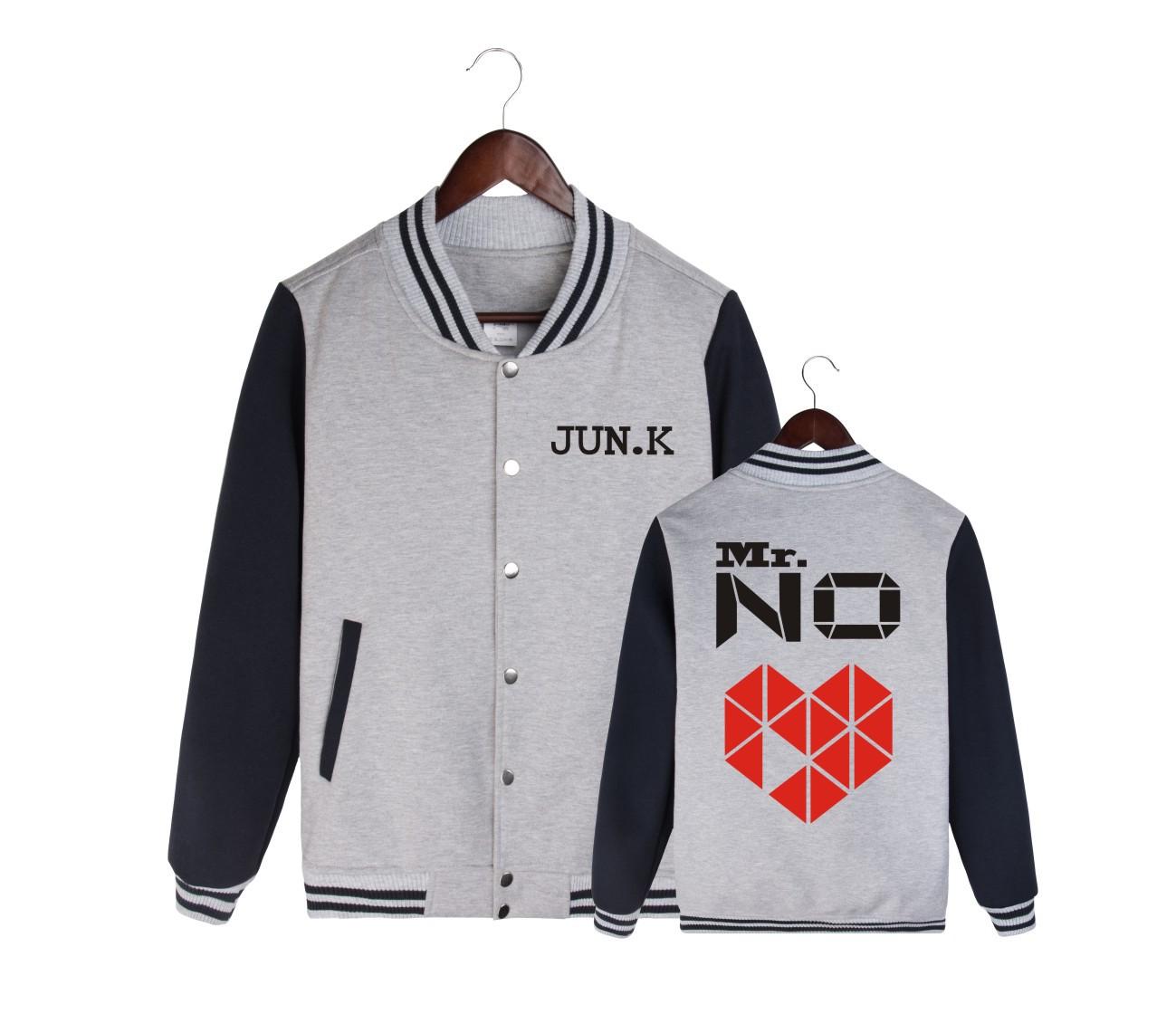 2PM金峻秀JUN.KSOLO周边Mr.NO演唱会衣服同款男女棒球卫衣专辑服