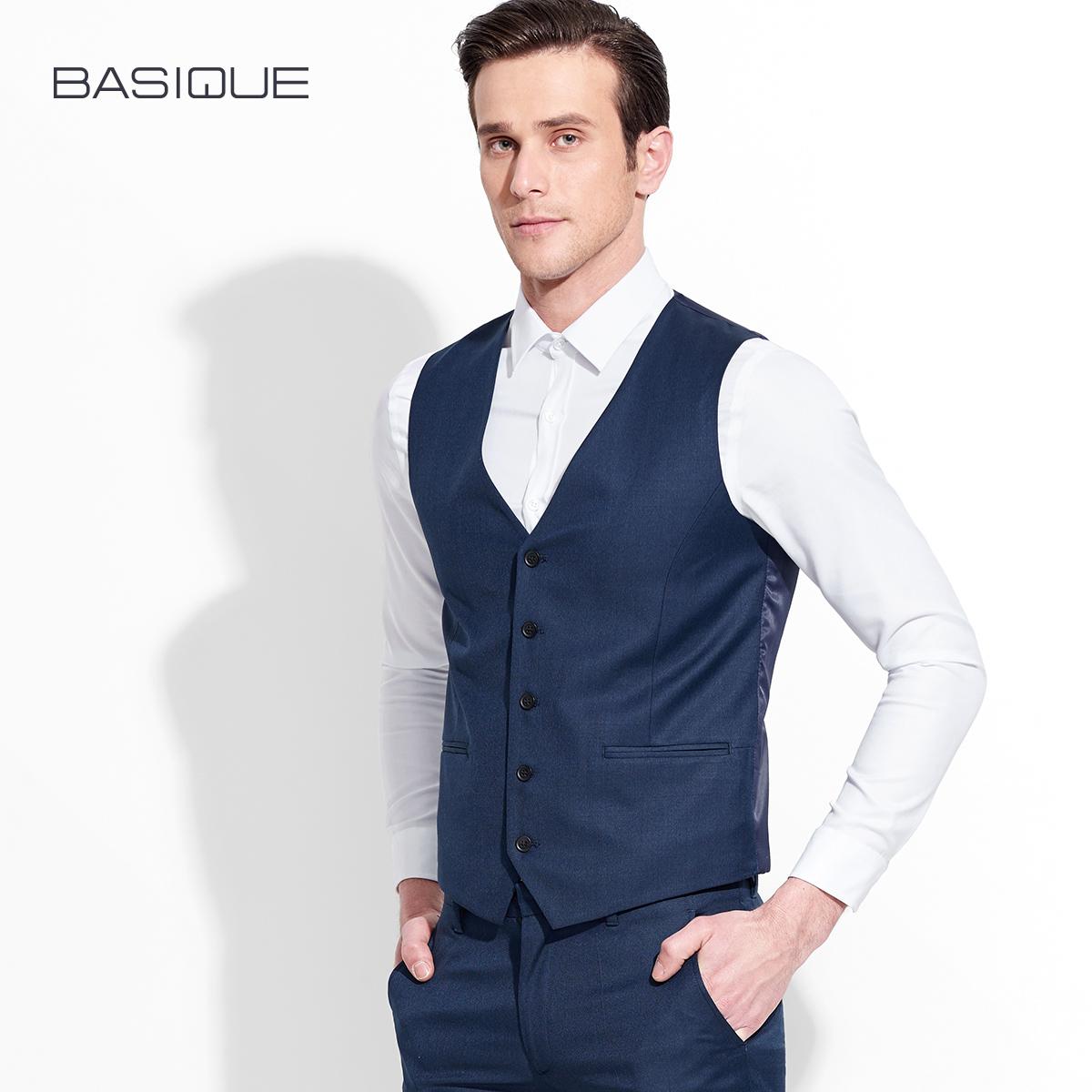 元本男士外套西装羊毛修身西服商务背心马夹马甲英伦风潮