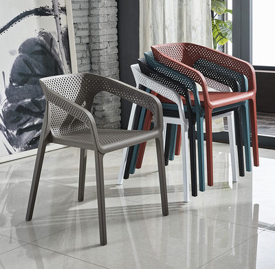 Nordic plastic chair casual outdoor plastic chair designer chair restaurant chair coffee chair negotiation chair back chair thickening