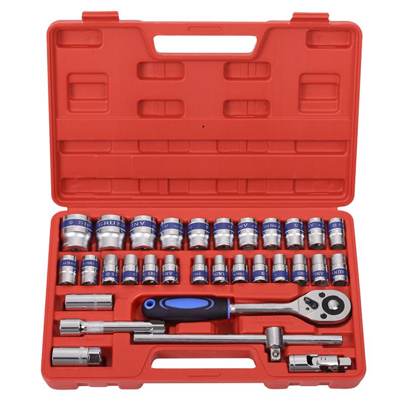 汽修机修套筒工具工具箱电动车摩托车v套筒套装家用扳手五金工具