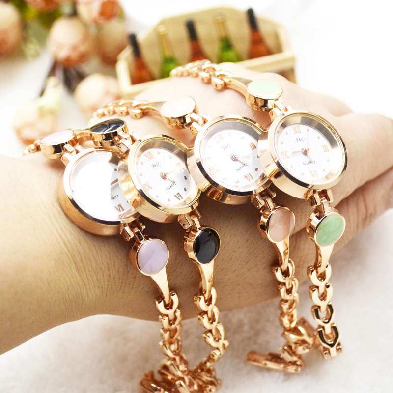 Bracelet watch schoolgirl Korean version of simple fashion small winding bracelet waterproof ladies watch 1018
