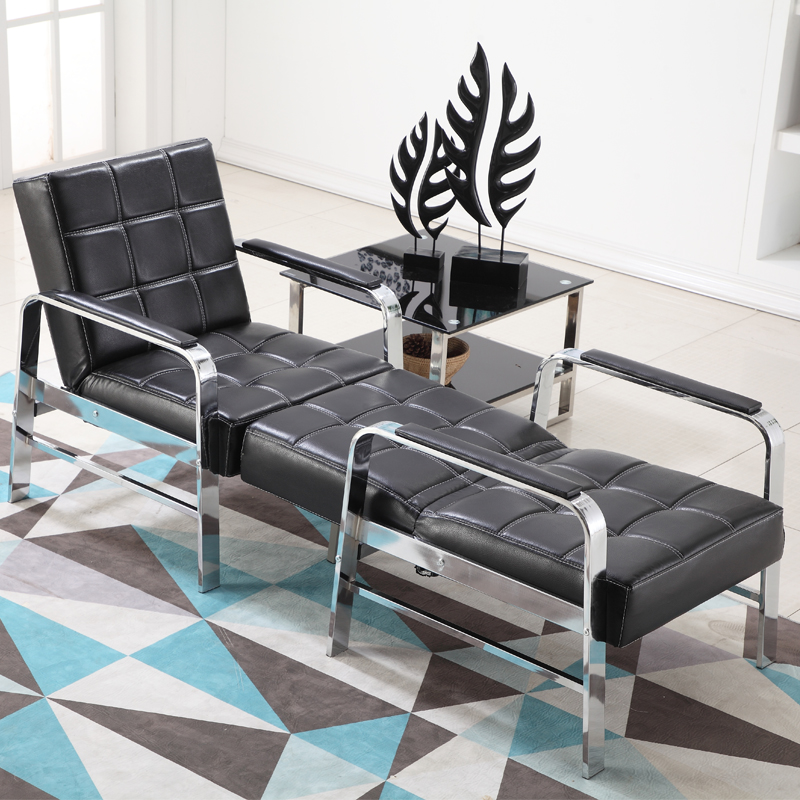 Office sofa coffee table combination simple leather art business small  apartment rental office office simple folding sofa bed