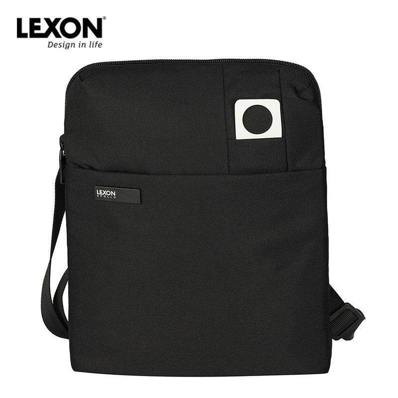 乐上LEXON法国男商务单肩包休闲时尚背包竖款单肩斜挎侧包