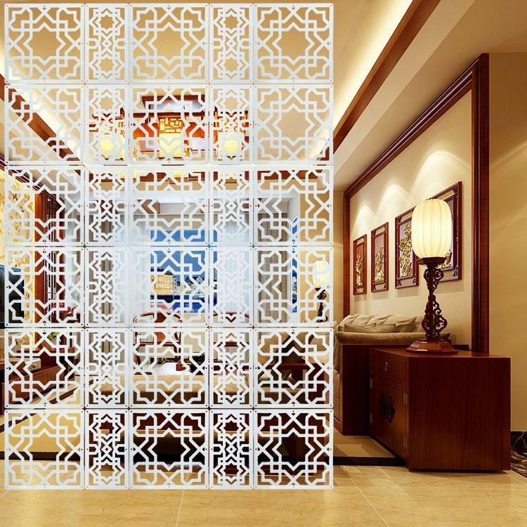 Vách ngăn thời trang phòng khách lối vào phòng ngủ treo gấp hoa rỗng trang trí chạm khắc rèm mềm - Màn hình / Cửa sổ