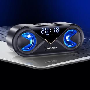 力勤无线蓝牙音箱大音量家用闹钟音响3D环绕双喇叭手机超重低音炮小型便携户外收款二维码收钱语音播报提示器
