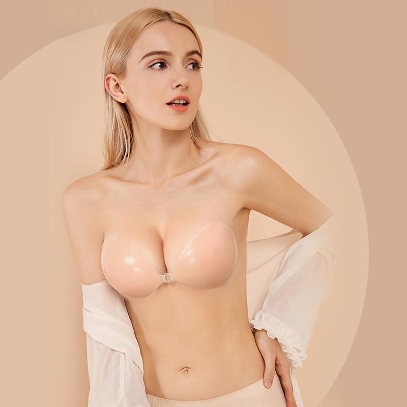 硅胶隐形文胸胸贴女婚纱用聚拢小胸乳贴内衣大胸吊带平胸夏季薄款
