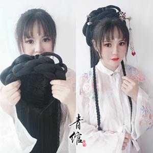 Chinese Hanfu wig princess fairy cosplay hair wig song and Ming Dynasties wig for lazy man half hair set hair ancient hair bun ancient style headwear