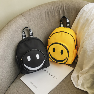 Children's backpack cute smiling boy and girl baby play mini school bag parent-child leisure trendy bag small bag