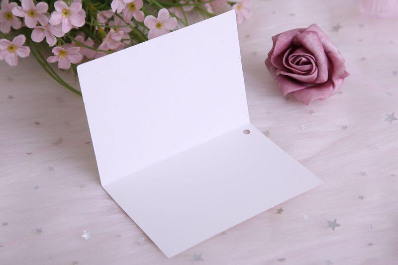 带信封贺卡韩国创意小卡片生日简约留言感谢卡鲜花节日精緻祝福卡详细照片