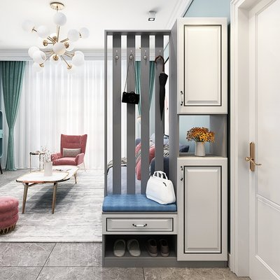 European style entrance shoe cabinet entrance cabinet integrated modern minimalist home entrance entrance entrance screen partition living room light luxury cabinet