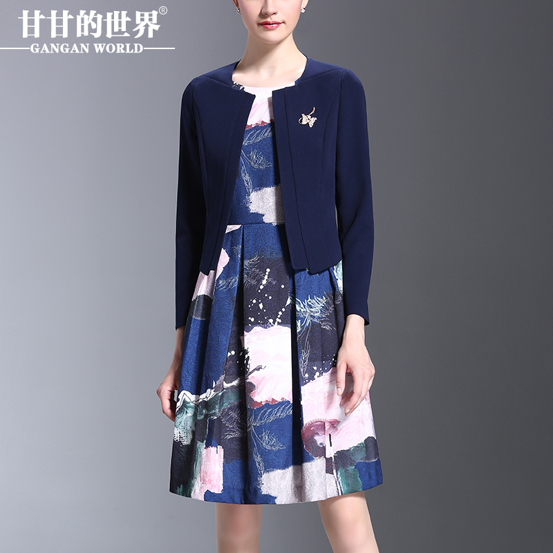 Usd 263 12 Gan Gan World Autumn New Large Size Printing Middle Aged