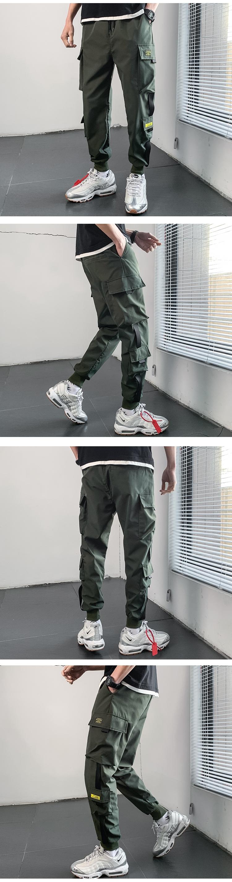 春款男休闲裤束脚裤运动裤哈伦裤九分裤工装长裤 K15
