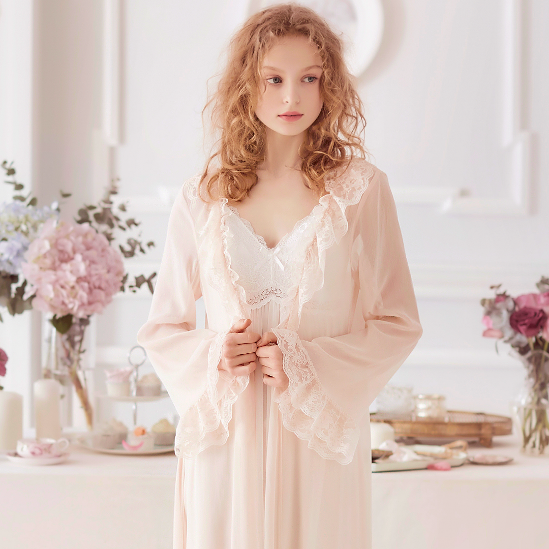 USD 106.98  RoseTree Palace retro nightdress Spring Summer section ... 1d37dab8d