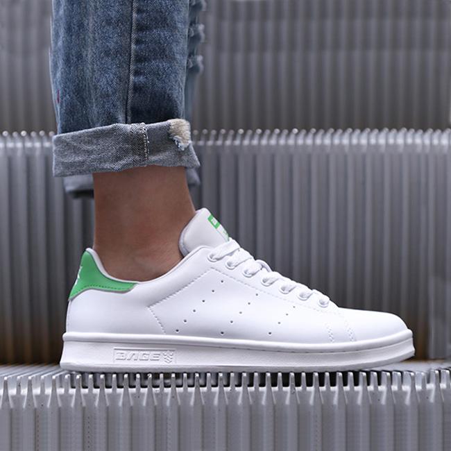 八哥女鞋板鞋2019新款韩版潮流休闲鞋绿尾百搭男女小白鞋简约