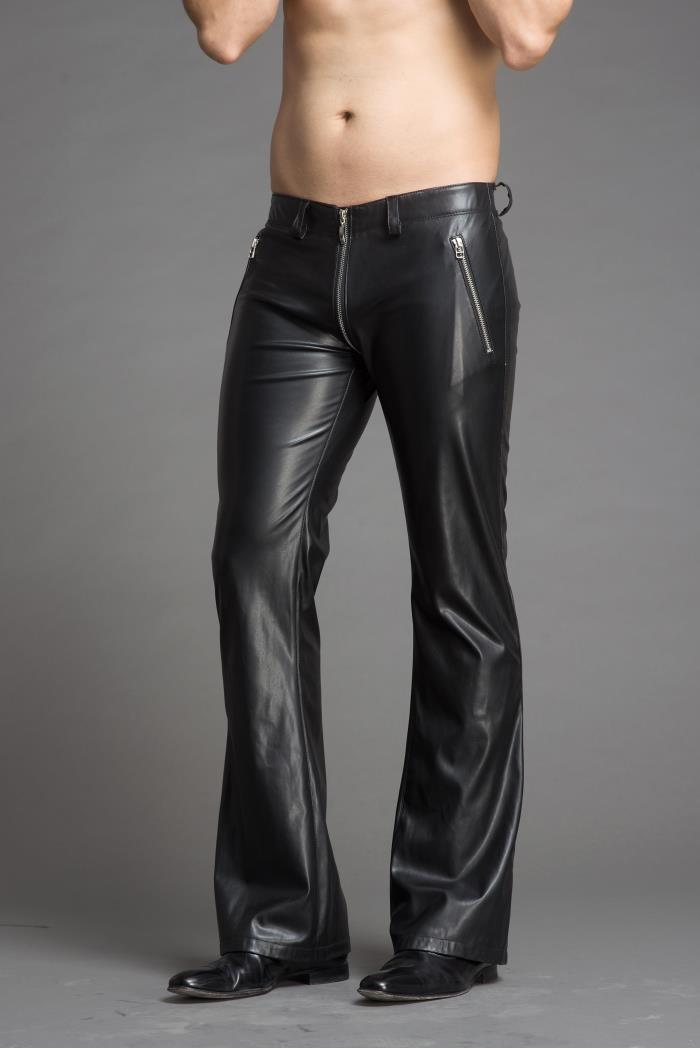 2018 Men's stylish flared leather pants.     29-36!! 39