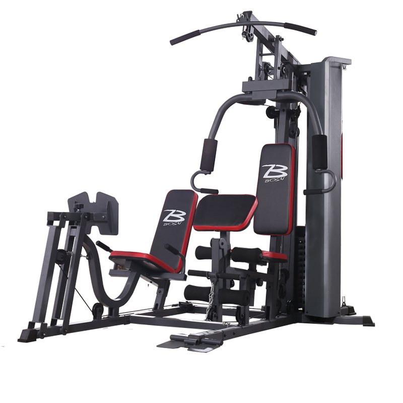 Luxurious And Stable Double Station With Leg Kick Machine 70*50 Square Tube