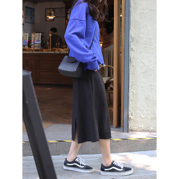 Xi Mongolian students in the long section 2020 new autumn and winter retro black skirt small fresh high waist skirts wild women