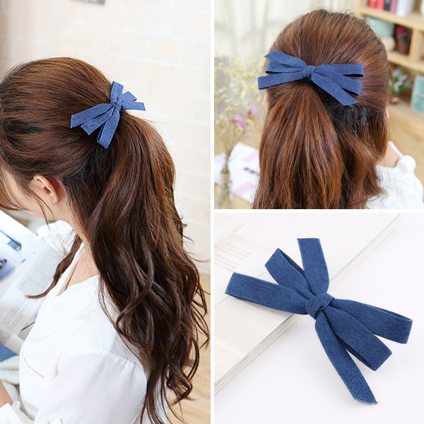 LIGHT BROWN 72# DARK BLUE BOW