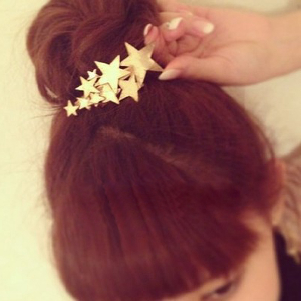 15#GOLD-STAR HAIRPIN