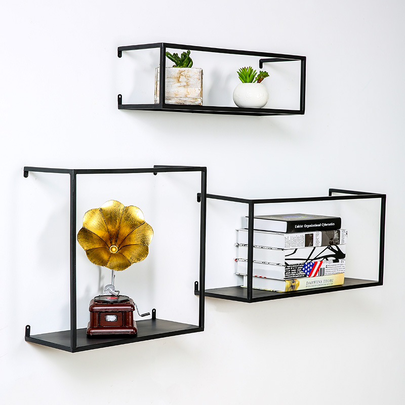 Usd 31 38 Nordic Wall Rack Iron Living Room Bedroom Simple Wall Hanging Tv Background Wall Decorative Creative Bookshelf Wholesale From China Online Shopping Buy Asian Products Online From The Best
