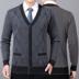 Quần áo nam trung niên và cao tuổi 50 mùa xuân và mùa thu 60, một người cha 70 mặc áo len dệt kim dài tay giản dị - Cardigan