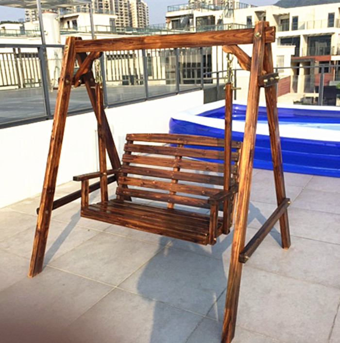 Fantastic Rural Countryside Outdoor Wooden Swing Rocking Chair Hanging Ibusinesslaw Wood Chair Design Ideas Ibusinesslaworg