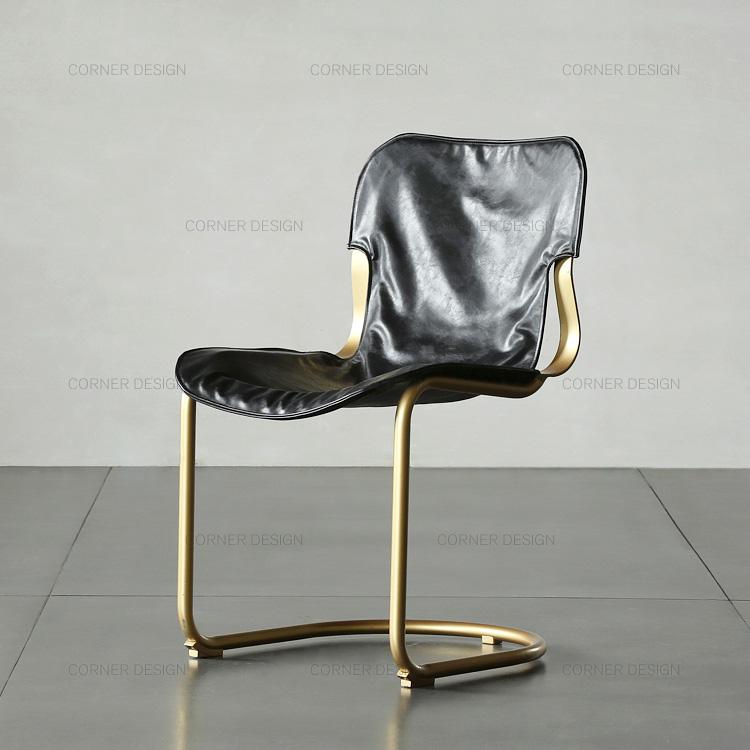 Corner/ нордический мебель стул творческий современный простой кожа позолоченный медный железо / домой стул искусство домой