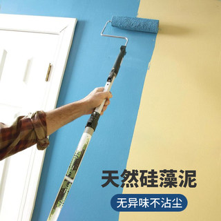 White emulsion paint interior wall paint interior self brush tasteless waterproof paint domestic color wall repair brush white paint