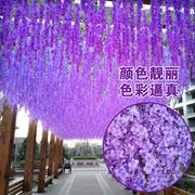 Mô phỏng Hoa Wisteria Trang trí Hoa giả Hoa trần Trang trí Hoa Vine Vine Wedding Wedding Wisteria Hoa Trong nhà Violet Hoa nhân tạo - Hoa nhân tạo / Cây / Trái cây