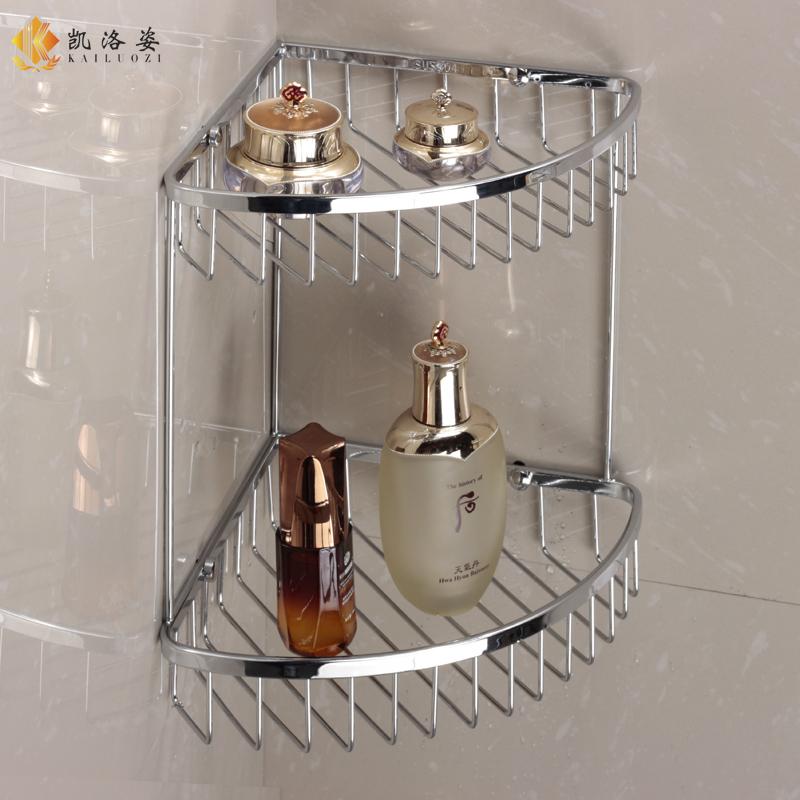 304 нержавеющая сталь двойной слой ванная комната стеллажи вешать душ дом ванная комната треугольник 2 слой ванная комната кулон корзина бесплатная доставка