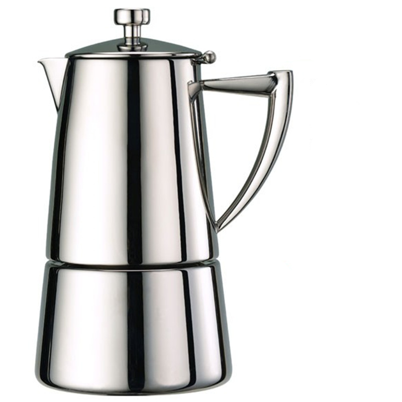 Coffee Pot 304 Stainless Steel Moka Induction Cooker Brewing Send Filter Paper Thicken
