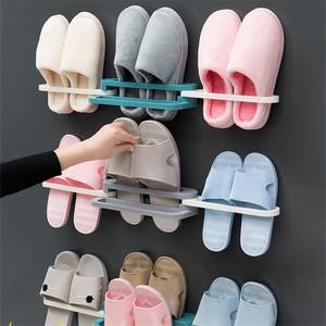 【婷兰朵旗舰店】可折叠浴室拖鞋架