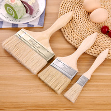Baking tools wooden handle brush oil grill brush brush brush to make a cake cookies medium and small number optional