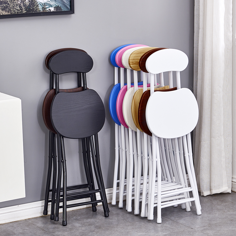 Folding chair home dining chair lazy portable casual stool back chair dormitory chair simple computer chair folding stool