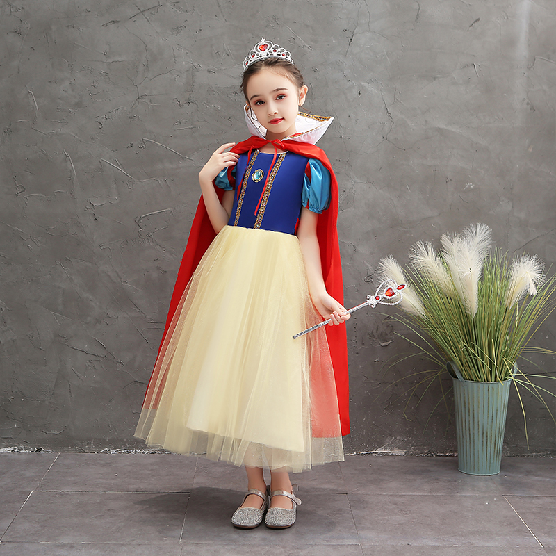 Frozen princess dress autumn girls long sleeve Christmas children's clothing Aisha snow white dress dress