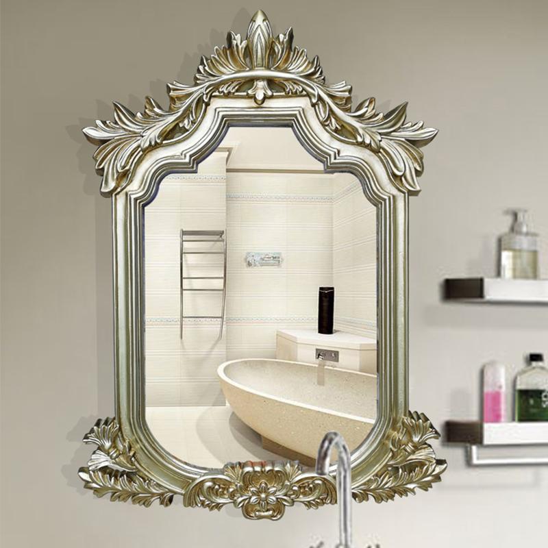 装饰浴室欧式防水镜子镜酒店卫生间镜玄关复古镜梳妆镜壁挂美容镜