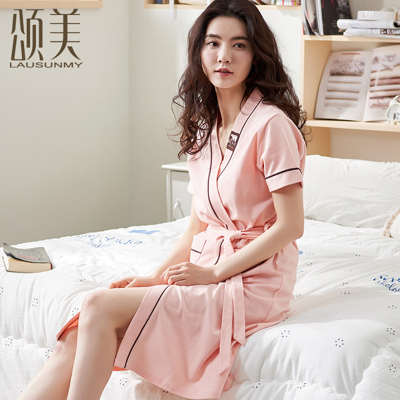 6aac224af0 USD 62.19  Summer couple nightgown female cotton thin section sexy ...