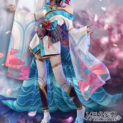 taobao agent Three-point delusion lol raccoon soul lotus cos clothing nine-tailed demon fox cospaly tail cosply clothing female