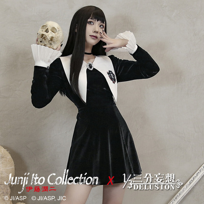taobao agent Genuine three-point delusion Jun Ito's second surprise anthology Kawakami Tomie joint derivative rose and pupil velvet dress