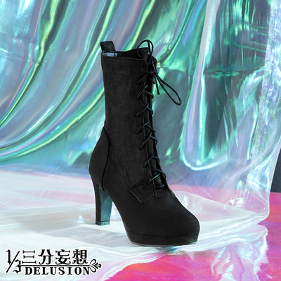 taobao agent Three-point delusion king of glory cos lover of time Sun Shangxiang black high heels game cosplay accessories