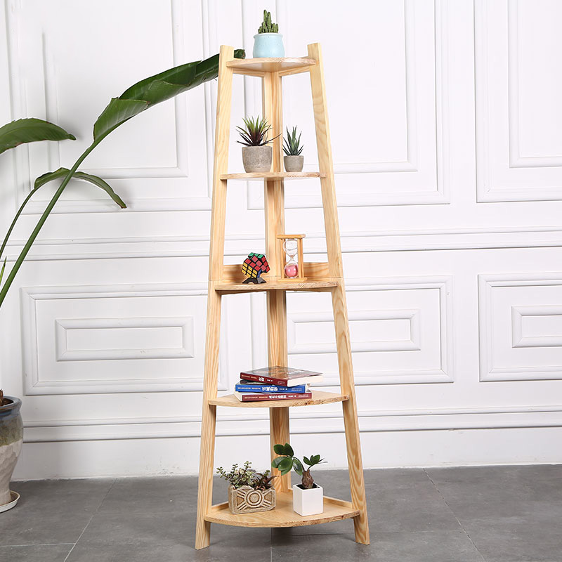 USD 19.72] IKEA bedroom corner shelf triangular flower frame corner ...