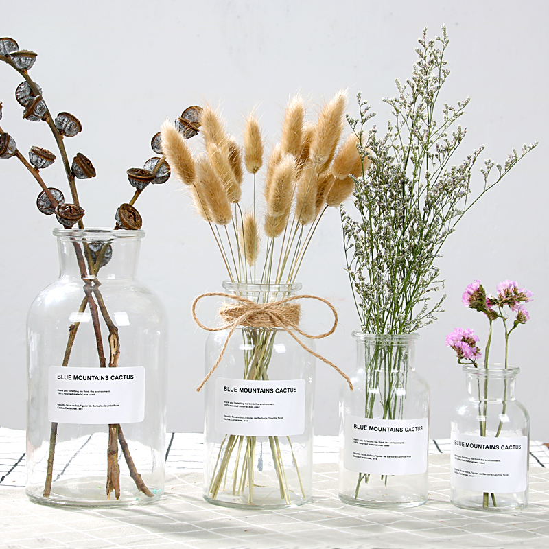 Usd 587 Ins Wind Vase Nordic Small Brown Bottle Transparent Glass
