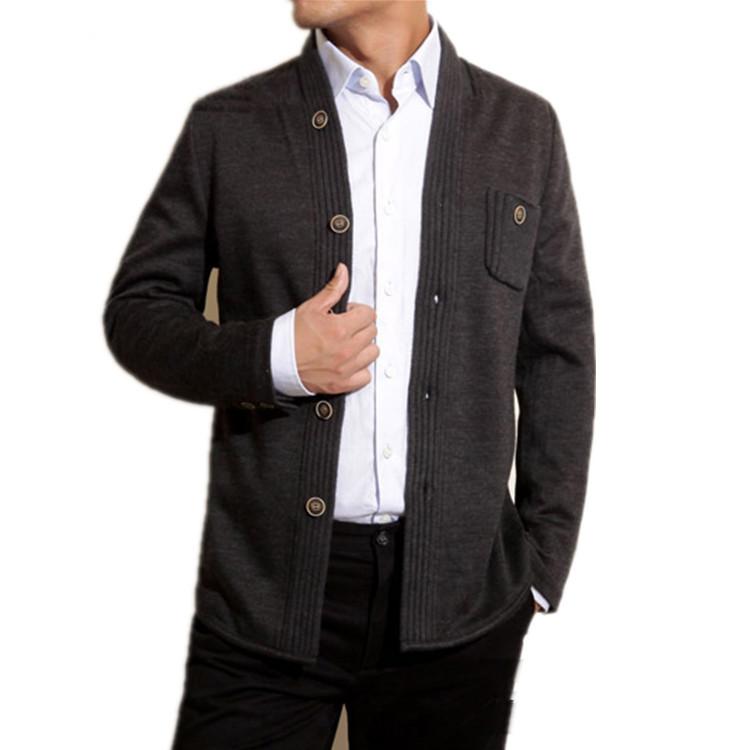 诺亚方舟夹克新款外套色系时尚男士清仓毛呢深灰扣春装断码修身M