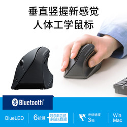 Japan SANWA wireless mouse large-sized body engineering Bluetooth USB computer upright vertical men and women