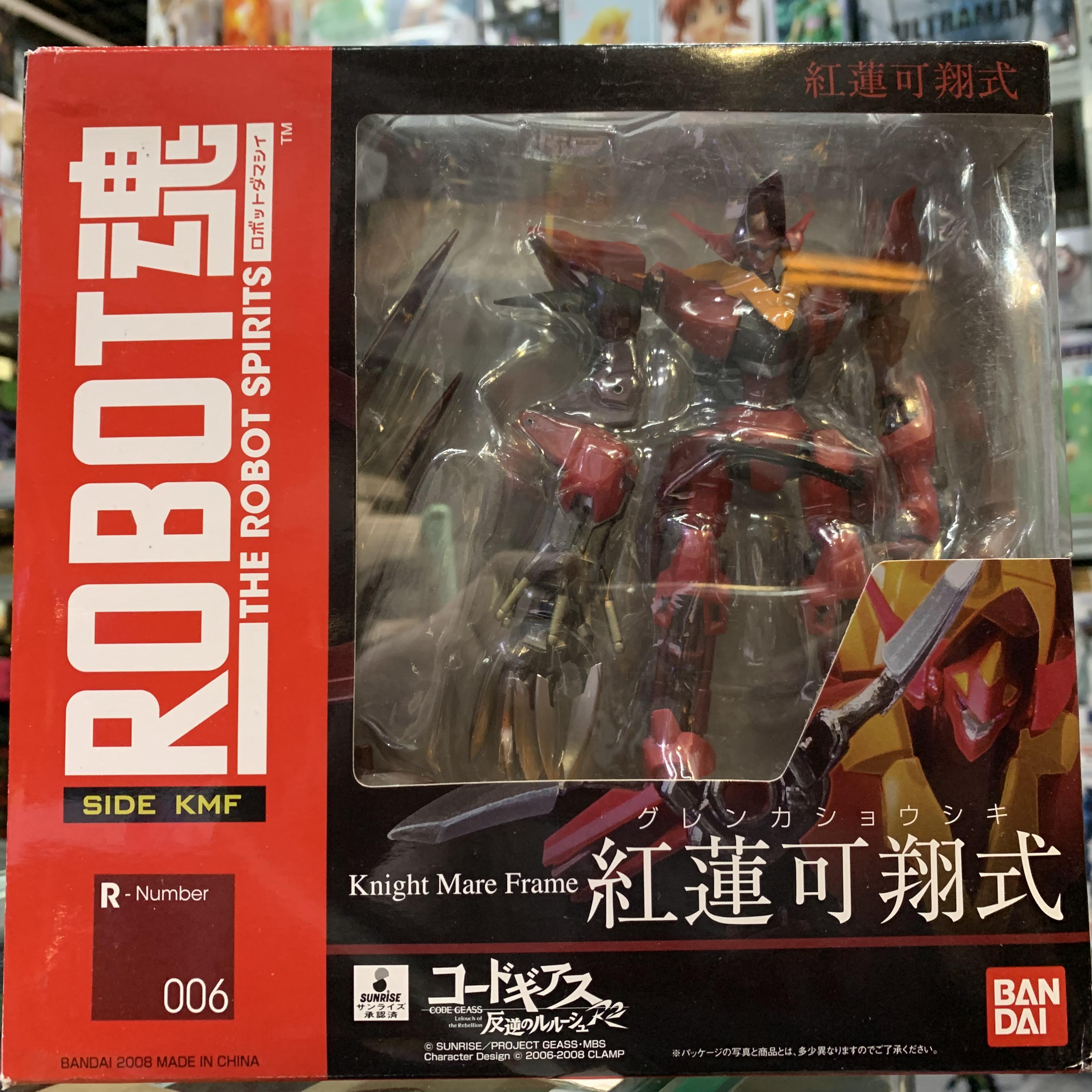 现货 万代 robot魂 006 叛逆的鲁鲁修r2 红莲可翔式 红月卡莲