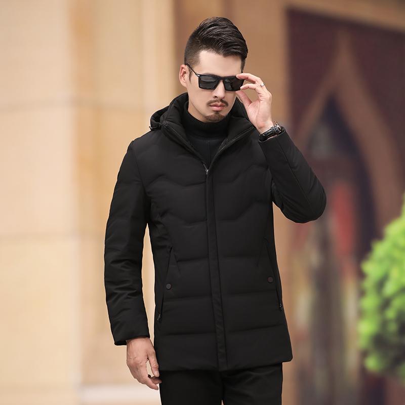 2018新款冬装男中长款韩版羽绒服潮流加厚青年男款冬季外套潮