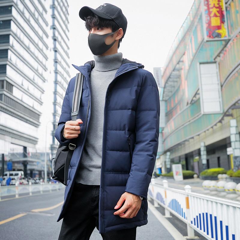 男士中长款羽绒服2018冬季新款韩版修身潮流帅气青年男款外套